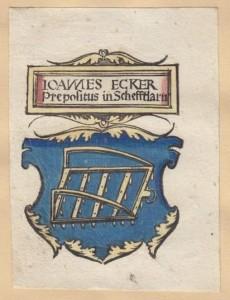 Exlibris des Klosters Schäftlarn (Bayerische Staatsbibliothek, Exlibris 2-4, online: http://daten.digitale-sammlungen.de/bsb00056594/image_1)