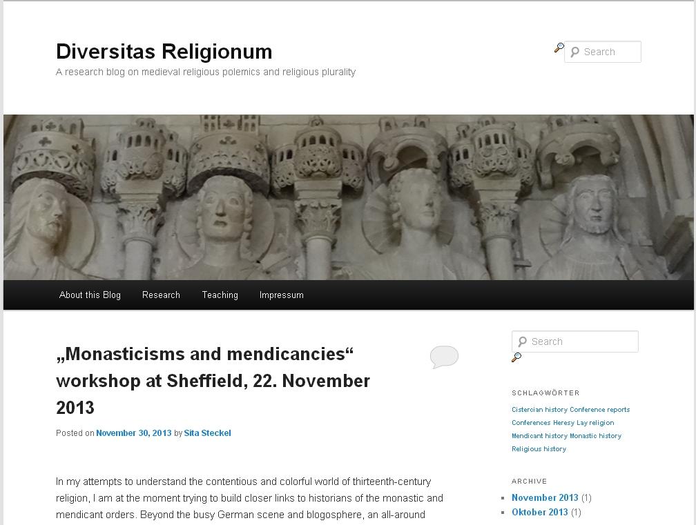 Diversitas Religionum. A research blog on medieval religious polemics and religious plurality