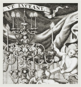 """Titelkupfer des """"Thesaurus anecdotorum novissimus"""" von Bernhard Pez"""
